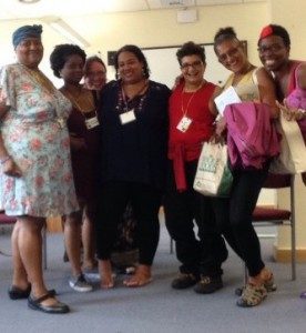 Bisexuals of Colour at BiCon in 2014, with Jacq on the far left